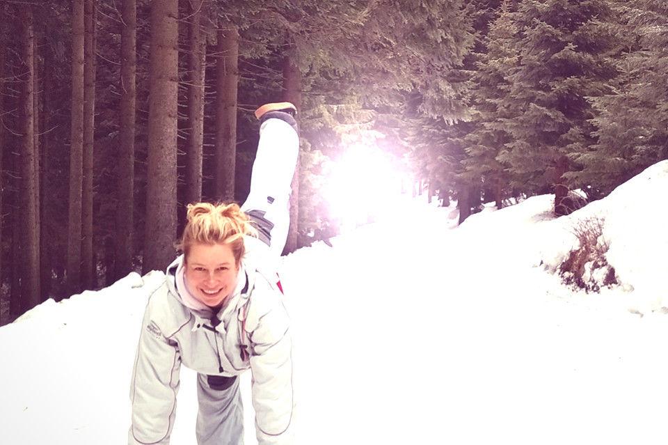 jóga, meditace, sníh a lyžování