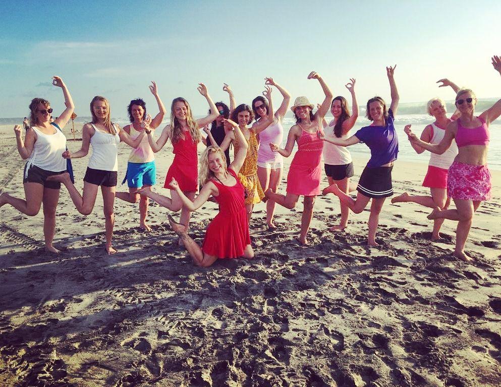 jóga na pláži Judita Berková