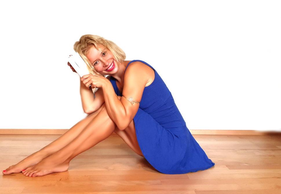 Modré jógové šaty