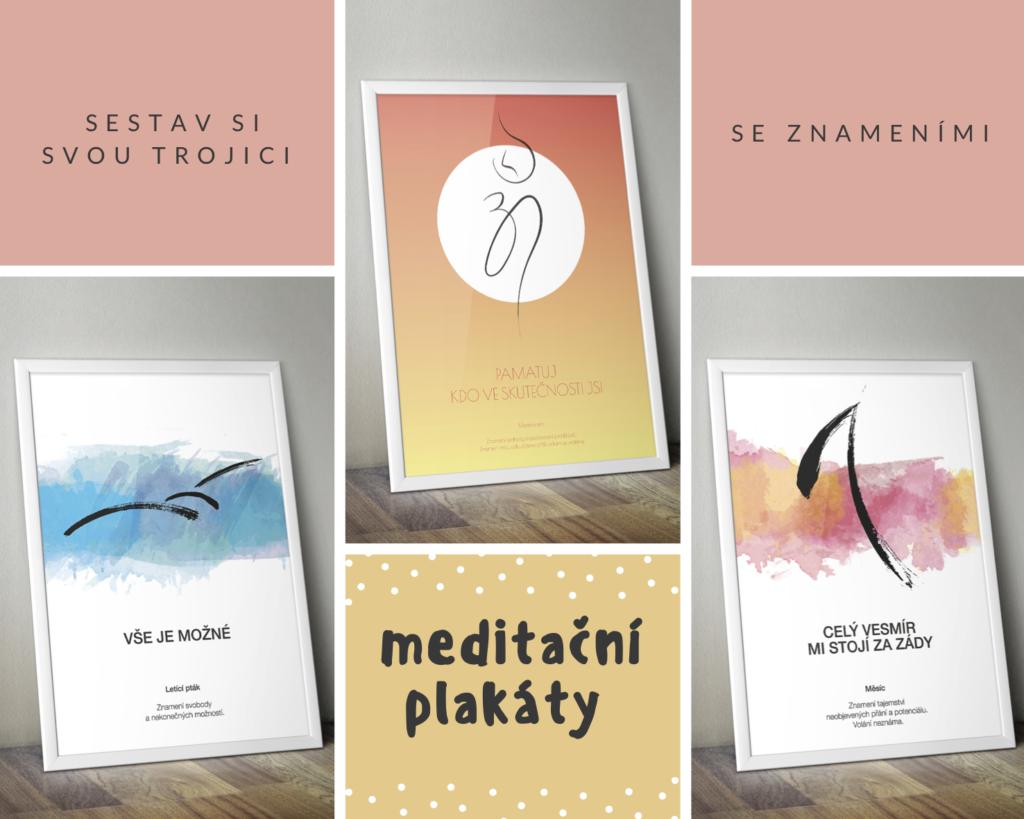 Meditační plakáty